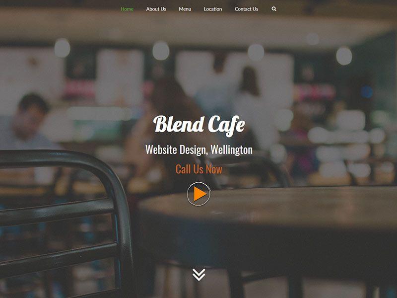 Cafe Website Design - Blend Design Wellington